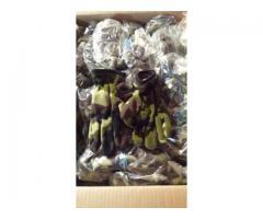 Stock guanti in pile blu-neri-mimetici