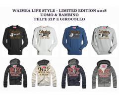 -75% WAIMEA UOMO BAMBINO STOCK – da 10 a 800 pz FELPE E T-SHIRT